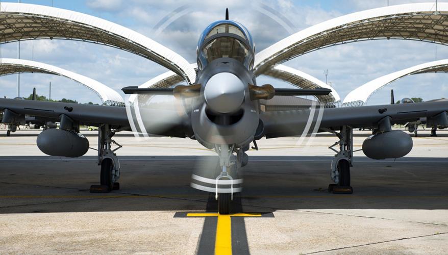 An A-29 Super Tucano.