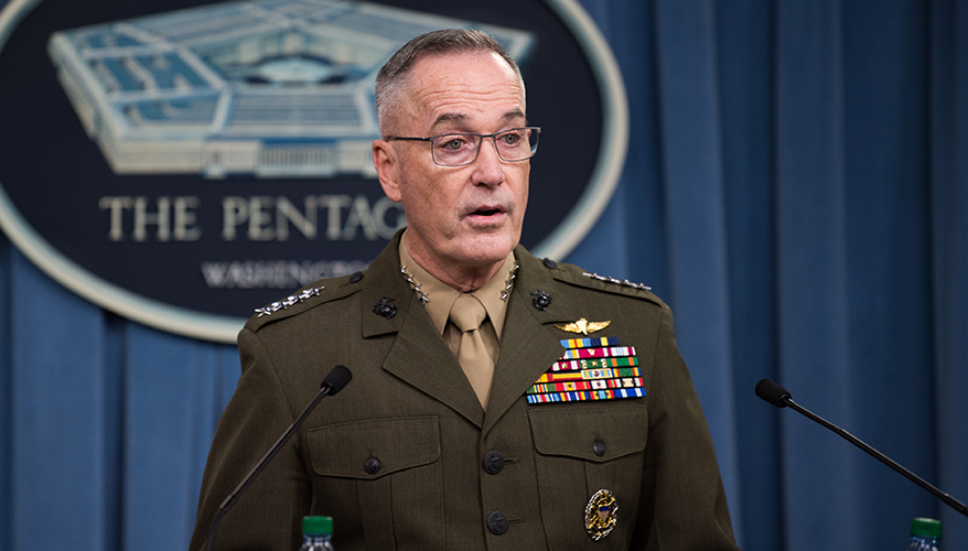 Exclusive Q Amp A With Gen Joseph Dunford Chairman Of The